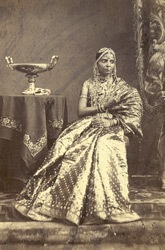 Madras girl wearing jewellery, from the International Exhibition of 1872